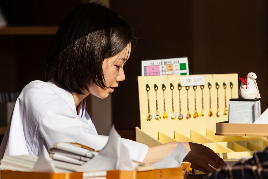 Miko del templo Sensôji