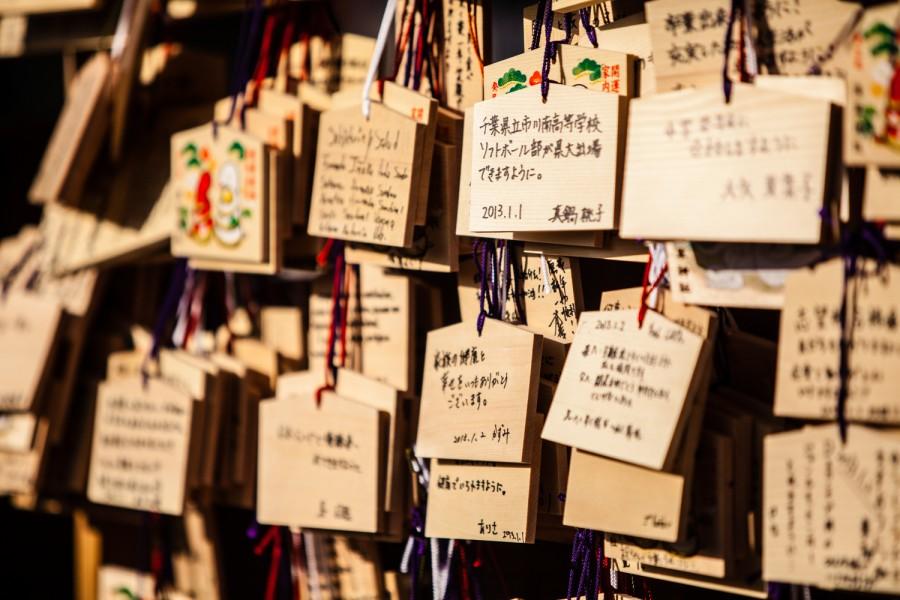 Deseos colgados en el templo Sensôji