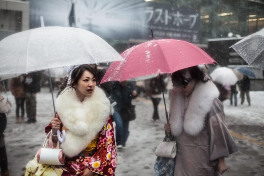 Kimonos en la nieve