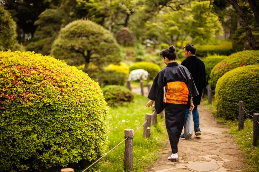 La señora del obi naranja