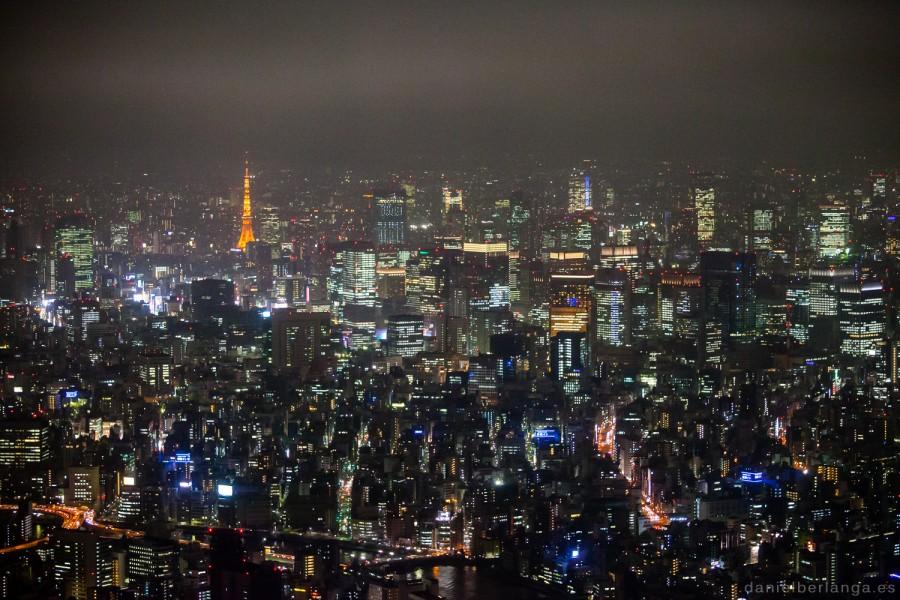 Tokyo Nocturna desde la Sky Tree