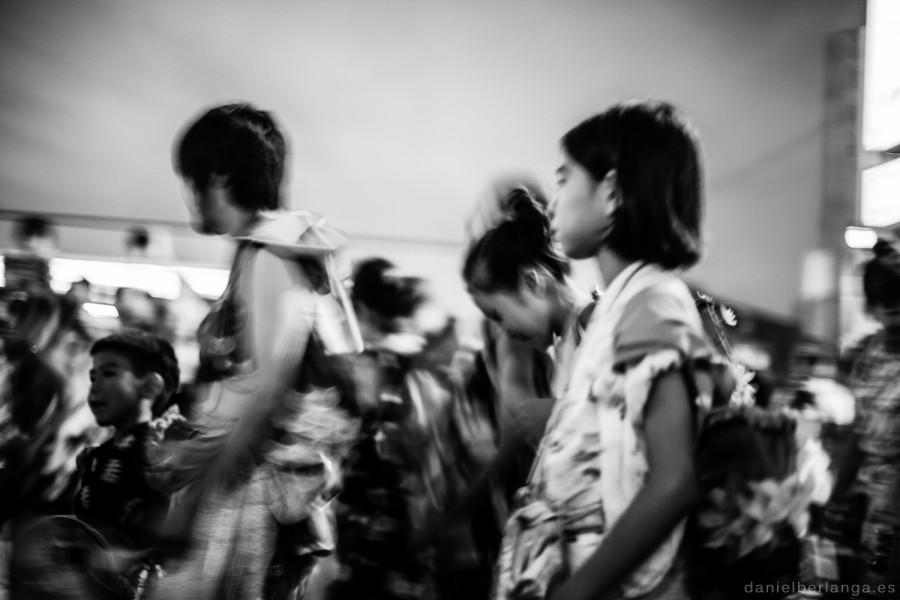 Gente en el Nebuta matsuri