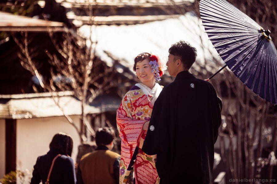Recien casados en el templo Zenkouji